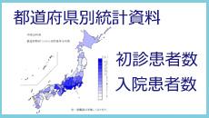 都道府県別統計資料「初診患者数」「入院患者数」